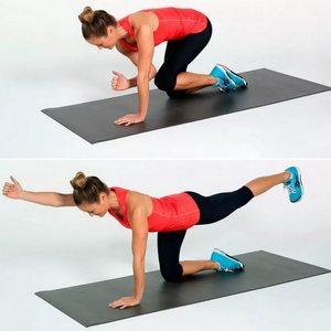 простое упражнение для укрепления мышц спины