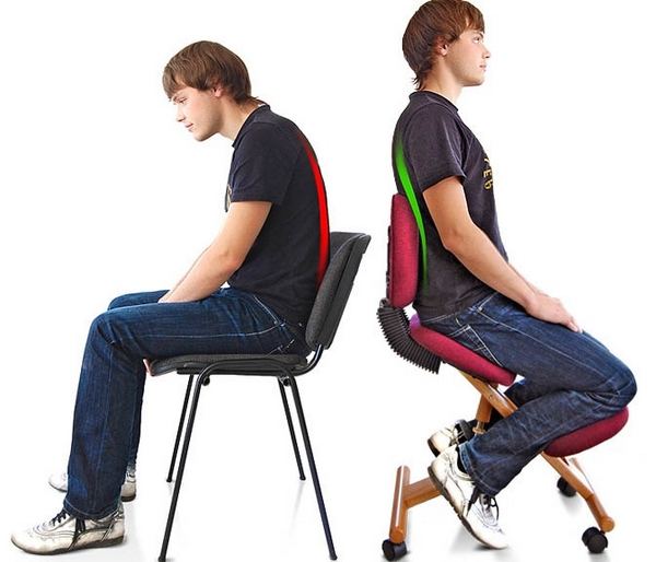 обычный и ортопедический стул